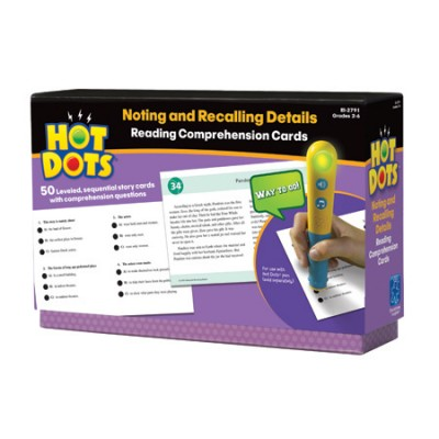 Hot Dots® Reading Comprehension Cards - Noting and Recalling Details