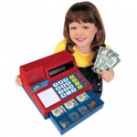 Pretend & Play® Calculator Cash Register (with U.S. Currency)