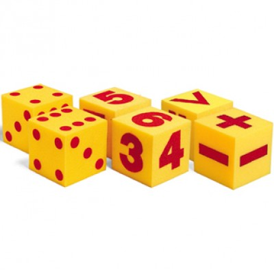 Giant Soft Cubes Class Set, 3 Sets of 2 Dice