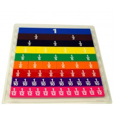 Plastic Fraction Tiles Set of 51