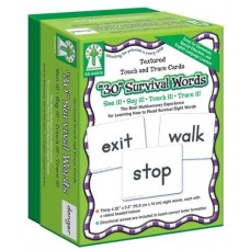TEXTURED TOUCH TRACE CARDS 30 SURVIVAL WORDS